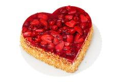 De cake van het hart. Stock Foto
