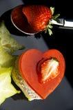 De cake van het hart Stock Afbeelding