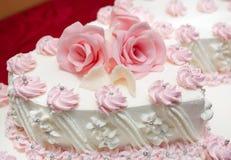 De cake van het huwelijk Stock Foto