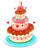 De cake van het huwelijk Royalty-vrije Stock Foto