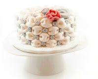 De Cake van het huwelijk Stock Foto's