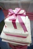 De cake van het huwelijk Royalty-vrije Stock Afbeeldingen