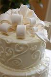 De cake van het huwelijk - close-up Stock Foto