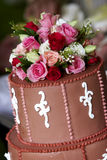 De cake van het huwelijk - huwelijksreeks Stock Fotografie