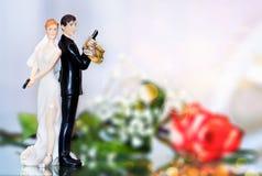 De Cake van het huwelijk topper Royalty-vrije Stock Foto