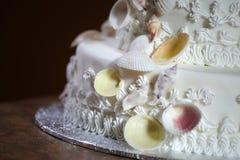 De Cake van het Huwelijk van de luxe Royalty-vrije Stock Foto