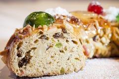 De cake van het Kerstmisfruit Stock Afbeeldingen