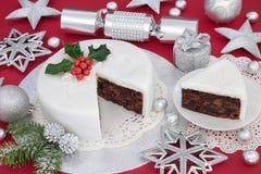 De cake van het Kerstmisfruit Royalty-vrije Stock Foto's