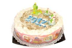 De cake van het nieuwjaar Stock Afbeelding