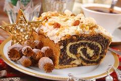De cake van het papaverzaad voor Kerstmis Stock Afbeelding