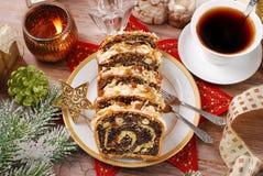 De cake van het papaverzaad voor Kerstmis Royalty-vrije Stock Foto