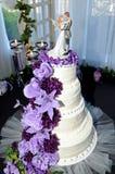 de cake van het 4 rijhuwelijk stock afbeelding
