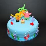 De cake van het sponsloodje Stock Afbeelding