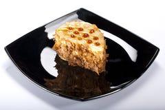 De cake van het voorgerecht met karamel Stock Foto's