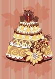 De cake van ?hocolate Stock Afbeeldingen