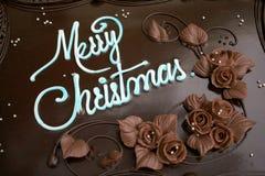 De cake van Kerstmis - 1 Stock Fotografie