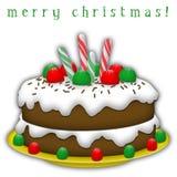 De Cake van Kerstmis Stock Illustratie