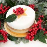 De Cake van Kerstmis Royalty-vrije Stock Afbeeldingen