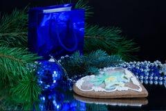 De Cake van Kerstmis Stock Foto's
