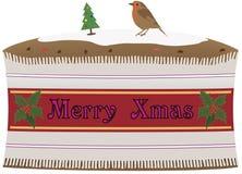 De Cake van Kerstmis Royalty-vrije Illustratie