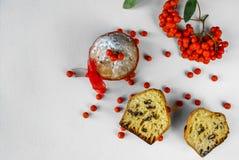 De Cake van Kerstmis Stock Fotografie
