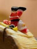 De cake van Kerstmis Stock Afbeelding