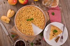 De cake van de kruimeltaartappel Stock Foto's