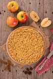 De cake van de kruimeltaartappel Stock Foto