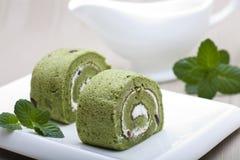 De cake van Matcha Stock Afbeelding