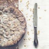 De Cake van de puddingskruimeltaart Stock Foto's