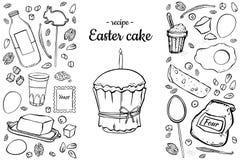 De cake van receptenpasen royalty-vrije illustratie