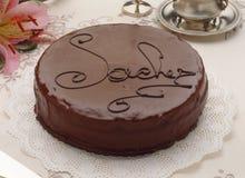 De cake van Sacher Stock Afbeelding