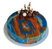 De cake van de spiegelglans over wit Royalty-vrije Stock Fotografie
