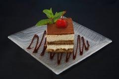 De cake van Tiramisu Royalty-vrije Stock Afbeelding
