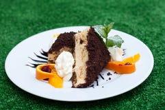 De cake van Tiramisu Stock Foto's