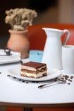 De cake van Tiramisu Stock Afbeelding
