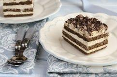 De cake van Tiramisu Stock Afbeeldingen
