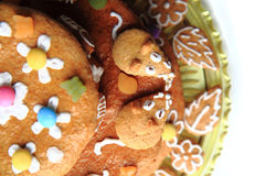 de cake van de verjaardagspeperkoek Stock Afbeelding