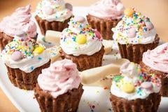 De cake van woestijnmuffins Royalty-vrije Stock Foto's