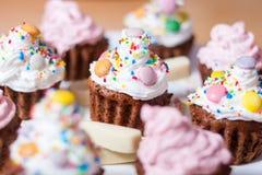 De cake van woestijnmuffins Royalty-vrije Stock Fotografie