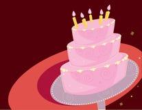 De cakeachtergrond van de verjaardag stock illustratie