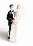 De cakebeeldjes van het huwelijk Stock Afbeelding