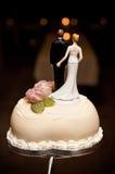De cakebovenkant van het huwelijk Stock Afbeelding