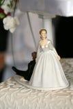 De cakecijfer van het huwelijk Stock Afbeeldingen