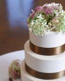 De cakeclose-up van het huwelijk. Royalty-vrije Stock Afbeeldingen