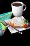 De cakedessert en koffie van het pond Stock Afbeelding