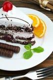 De cakedessert van de chocolade Stock Fotografie