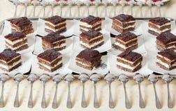 De cakes van de chocolade Royalty-vrije Stock Foto's
