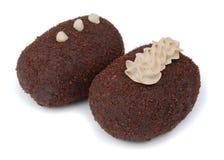 De cakes van de chocolade Royalty-vrije Stock Afbeeldingen