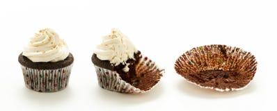 De Cakes van de chocoladekop Royalty-vrije Stock Afbeelding